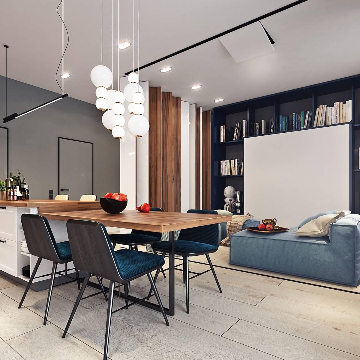 Дизайн однокомнатной квартиры 42 кв. м. - 75 вариантов планировки