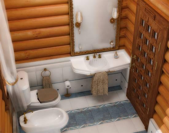 Особенности отделки ванной комнаты деревом