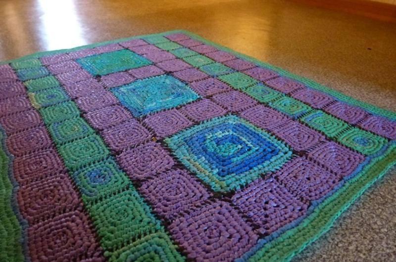 Вязание ковров из шнура крючком: схемы с пошаговыми инструкциями